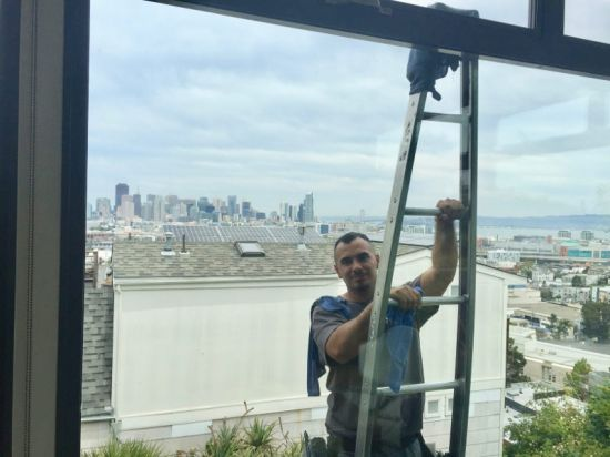 Cleaning High Windows