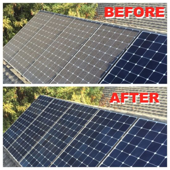 Solar Panel Cleaning Before And After