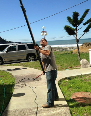 High Window Pole Cleaning